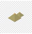 isolated pyramids isometric egypt elemen vector image
