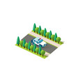isometric front right view police car vector image vector image