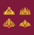 kings and queens gold crowns inlaid with gems vector image vector image