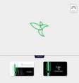 line art hummingbird creative logo template free vector image