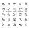 logistic delivery icons set 11 vector image vector image