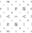 manager icons pattern seamless white background vector image vector image