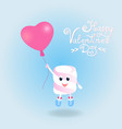 marshmallow fly on a balloon in the form of a vector image vector image