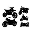 motorcycle transportation silhouette vector image