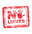 No limit red grunge rubber stamp vector image vector image