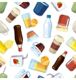 Non-alcoholic beverages drinks seamless vector image vector image