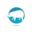 panda logo template vector image