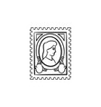 philately hand drawn sketch icon vector image