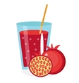 Pomegranate juice in a glass Fresh isolated on vector image vector image