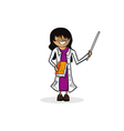 Professional teacher woman cartoon figure vector image vector image