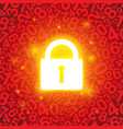 red glowing lock vector image vector image