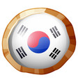 round badge for korea flag vector image vector image