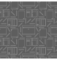 seamless pattern with notebooks and pencils vector image