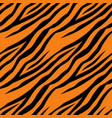 seamless pattern with tiger stripes design for vector image
