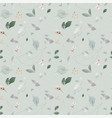 seamless pattern with watercolor leaves on green vector image vector image