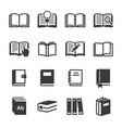 set book icon set image vector image