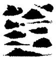 set clouds silhouette vector image vector image