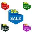 set flat sale label design elements vector image vector image