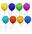 set of eight colorful balloons vector image vector image