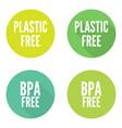 set plastic free vector image