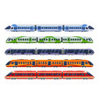 set railway transport trains subways metro vector image