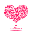 spring heart pink vector image vector image