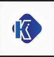 square symbol letter k design minimalist vector image vector image