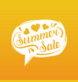 summer sale lettering in speech bubble season vector image vector image