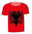 t-shirt with flag albania vector image vector image