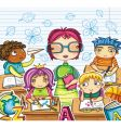 teacher and children vector image vector image