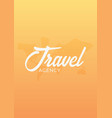 travel agency poster with map of planet vector image vector image
