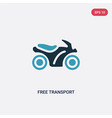 two color free transport icon from transport vector image