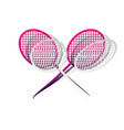 two tennis racket sign detachable paper vector image vector image
