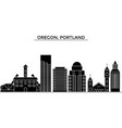 usa oregon portland architecture city vector image vector image