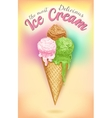 Vintage Ice Cream Poster vector image