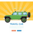 website design with extreme travel car vector image