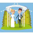 wedding card design cartoon vector image vector image