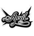 word april lettering vector image