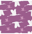 Baby shower stork pattern vector image