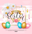 easter pink background with chamomile spring vector image