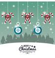 merry christmas cute card vector image