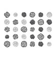 hand drawn floral decorative design elements vector image