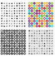 100 media icons set variant vector image vector image