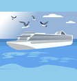 a large liner floats on sea a good vacation vector image vector image