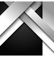 abstract 3d white and gray stripes diagonal vector image