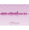 Albuquerque skyline in radiant orchid vector image vector image