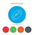 American football icon Sport ball sign vector image vector image