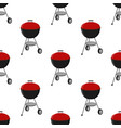 barbecue set - grill station seamless pattern vector image vector image