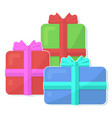 beautiful flat icon with group of presents vector image