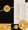 beer pub menu vector image vector image
